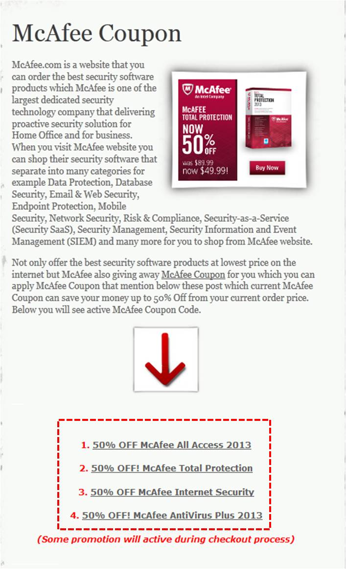 The people at McAfee have always put emphasis on innovation, that's why they are among the first to provide protection for mobile devices, even covering identity theft and stolen devices. You can get maximum protection too, and you can get it for less with a McAfee Promo Code.