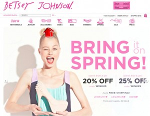 Accessories from Betsey Johnson