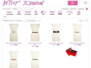 List of Accessories from Betsey Johnson