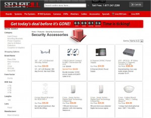 List of Accessories from Securitall