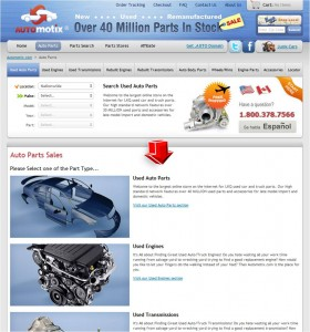 List of Auto Parts from Automotix
