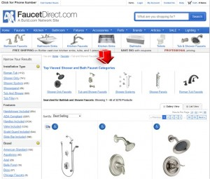 List of Tub & Shower Faucets from Faucet Direct