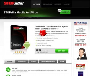 Mobile AntiVirus Information from STOPzilla