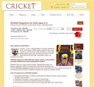 Step2 to Enter Cricket Magazine Coupon