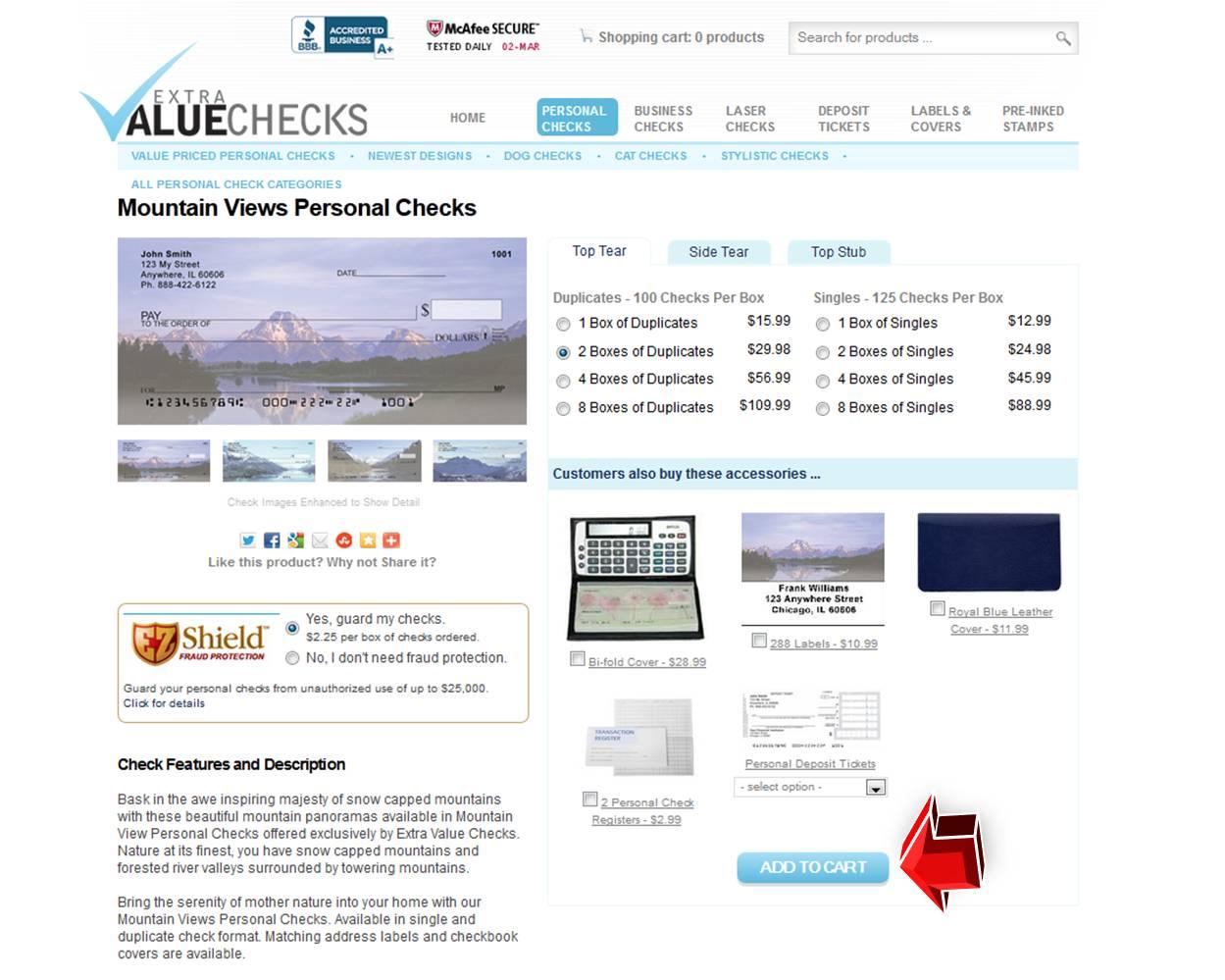 Extra value checks coupon code
