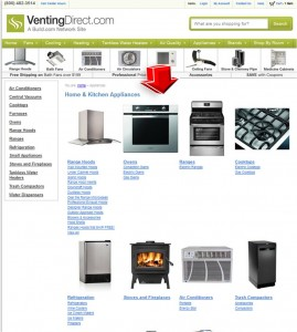 List of Appliances from VentingDirect