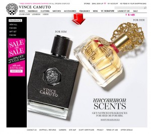 List of Fragrance from Vince Camuto