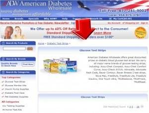 List of Glucose Test Strips from American Diabetes Wholesale