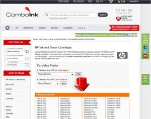 List of Hewlett Packard from ComboInk