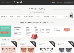 List of Men's Eyeglasses and Sunglasses from BonLook