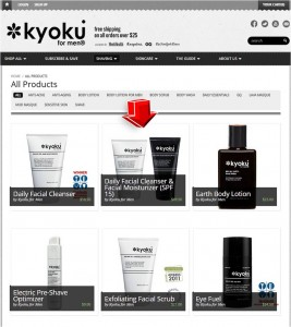 List of Shaving Products from Kyoku