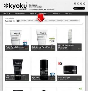 List of Skincare from Kyokuformen