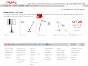List of Table & Desk Lamps from OLighting