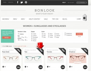 List of Women's Eyeglasses and Sunglasses from BonLook
