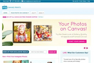 Step1 to Enter Easy Canvas Prints Coupon
