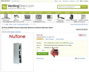 Step2 to Enter VentingDirect Coupon Code