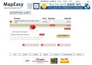 Step3 to Enter MapEasy Coupon