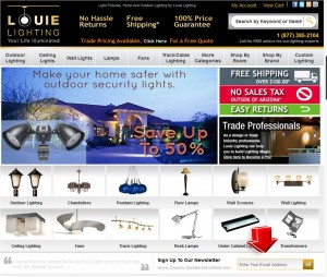 Louie Lighting Mailing Services