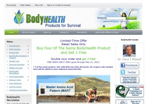 Step1 to Enter BodyHealth Coupon Code