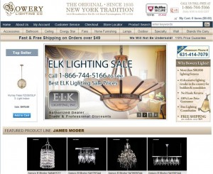 Step1 to Enter Bowery Lighting Coupon