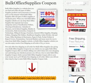 Step1 to Enter BulkOfficeSupplies Coupon