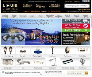 Step1 to Enter Louie Lighting Coupon Code