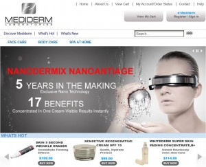 Step1 to Enter Mediderm Skin Care Coupon