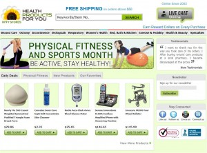 Step1 to enter Health Products For You Coupon