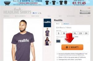 Step2 to Enter Headline Shirts Coupon