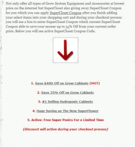 Step2 to Enter SuperCloset Coupon Code