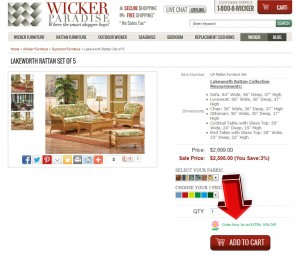 Step2 to Enter Wicker Paradise Coupon Code