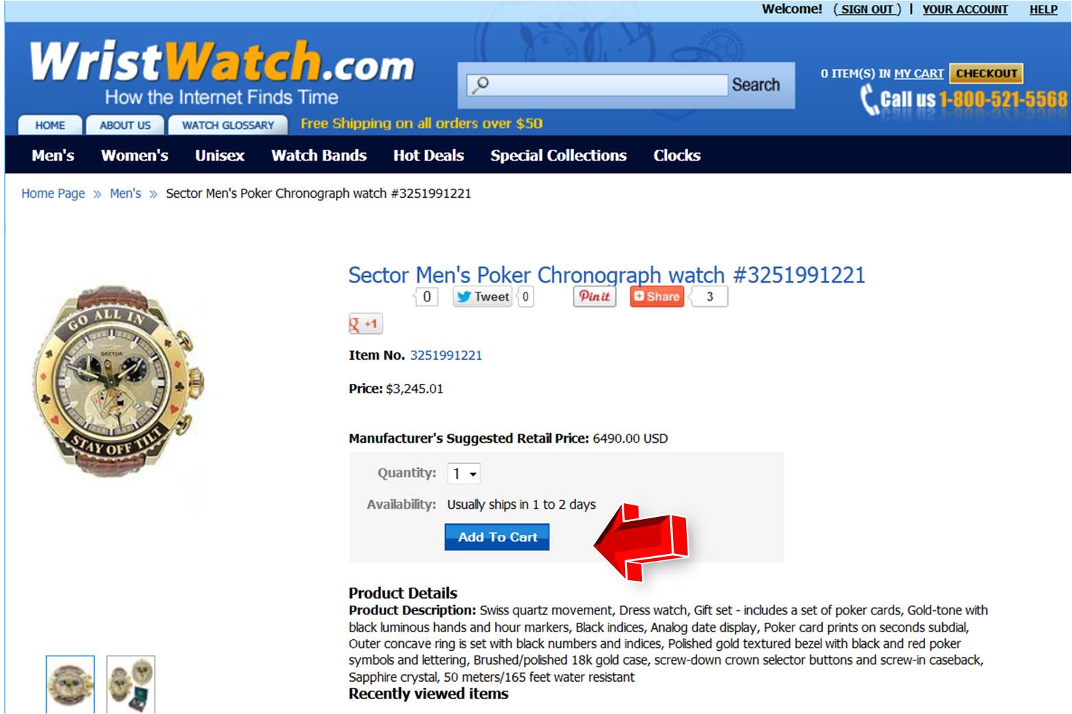 Sector 6 coupons - Step2 To Enter Wristwatch Coupon
