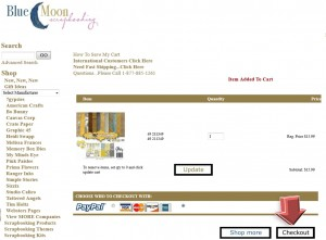 Step3 to Enter BlueMoonScrapbooking Coupon Code