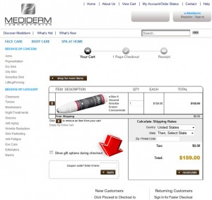 Step3 to Enter Mediderm Skin Care Coupon