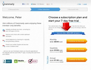 Step3 to Use Grammarly Coupon Code