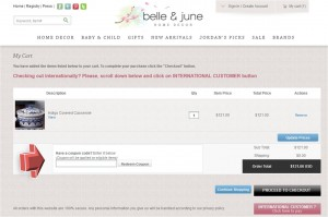 Step4 to Enter Belle and June Coupon