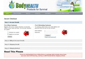 Step4 to Enter BodyHealth Coupon Code