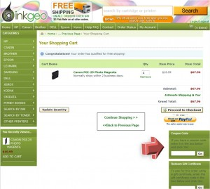Step4 to Enter InkGeo Coupon Code