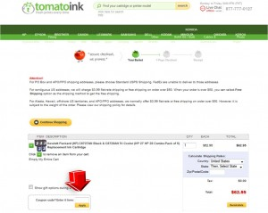Step4 to Enter TomatoInk Coupon Code