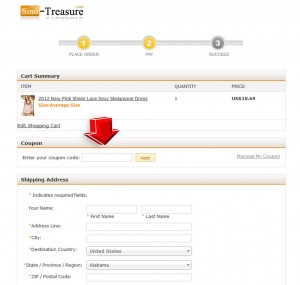 Step5 to Enter Sino Treasure Coupon