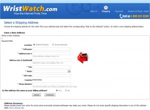 Step5 to Enter WristWatch Coupon