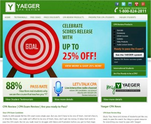 Step1 to Enter Yaeger CPA Review Coupon