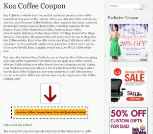 Step1 to apply Koa Coffee Coupon Code
