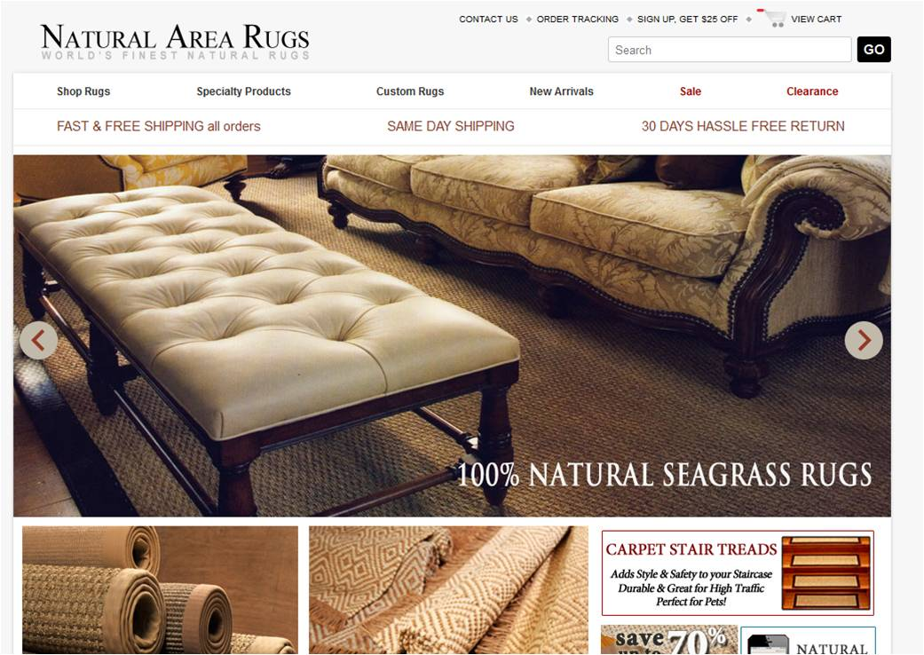 Step1 To Enter Natural Area Rugs Coupon Code