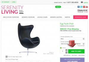 Step2 to Enter Serenity Living Store Coupon Code