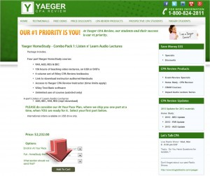 Step2 to Enter Yaeger CPA Review Coupon
