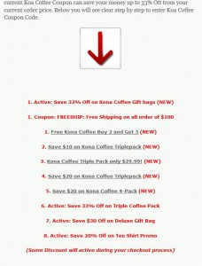 Step2 to apply Koa Coffee Coupon Code