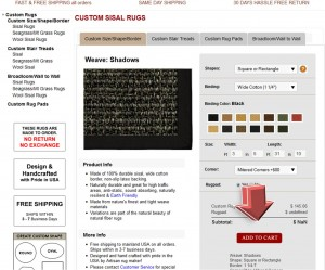 Step2 To Enter Natural Area Rugs Coupon Code
