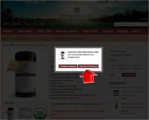 Step3 to Enter EnerHealth Botanicals Coupon Code