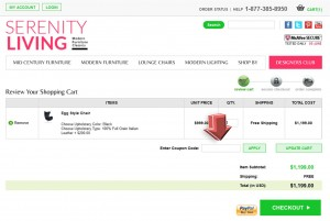 Step3 to Enter Serenity Living Store Coupon Code